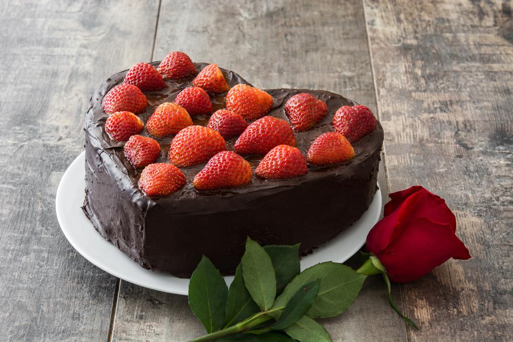 Valentine's Day Dinner Chocolate Cake